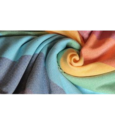 Echarpe de portage Girasol Light Rainbow - Jolie Cerise