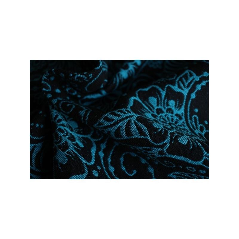 Echarpe de portage Yaro Ava Contra Black Blue Glam - Jolie Cerise