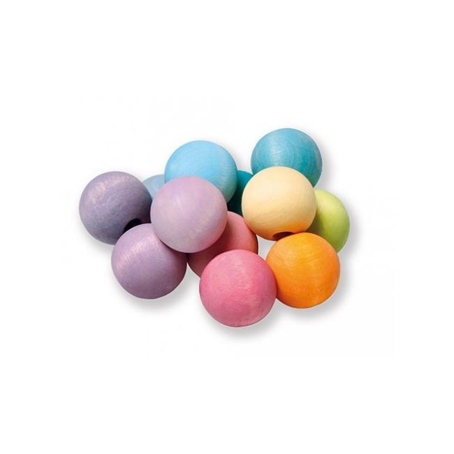 Hochet Perles Pastel Grimm's - Jolie Cerise
