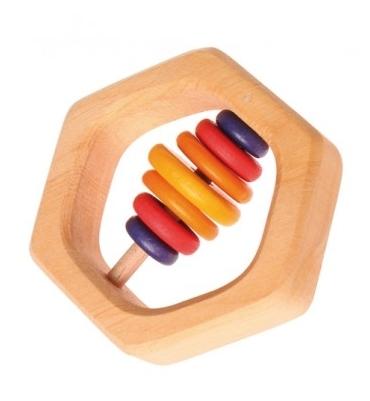Hochet hexagonal Grimm's - Jolie Cerise