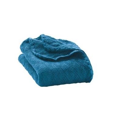Couverture laine bleu Disana - Jolie Cerise
