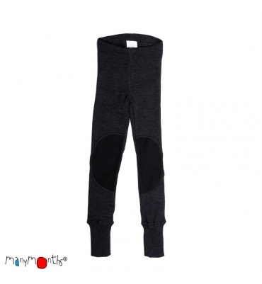 "Legging ""patches"" Foggy Black Manymonths - Jolie Cerise"