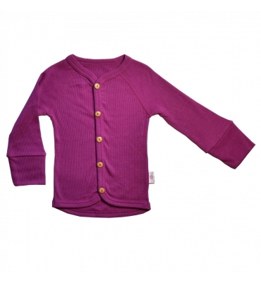 Cardigan Purple Wine Pink Woolly - Jolie Cerise