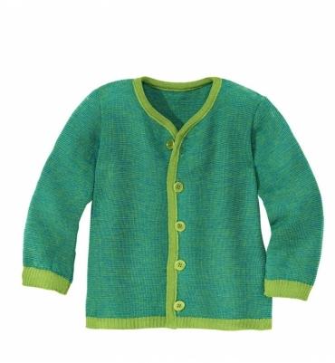 Gilet en tricot Vert Bleu Disana - Jolie Cerise