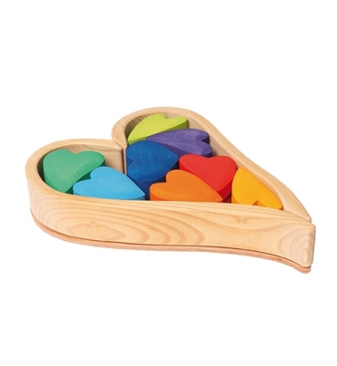 Coeurs Rainbow Grimm's - Jolie Cerise
