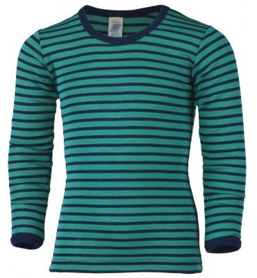 Tee-shirt ML Bleu Glacier/Marine Engel