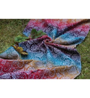 Scarf Yaro Ava Trinity Sepia Rainbow - Jolie Cerise