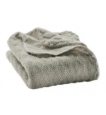 Couverture laine Grise Disana - Jolie Cerise