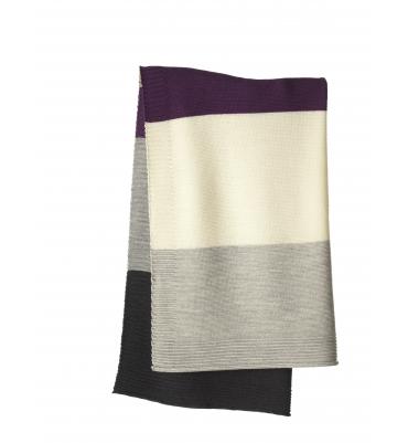 Couverture laine Disana Plum Gris - Jolie Cerise