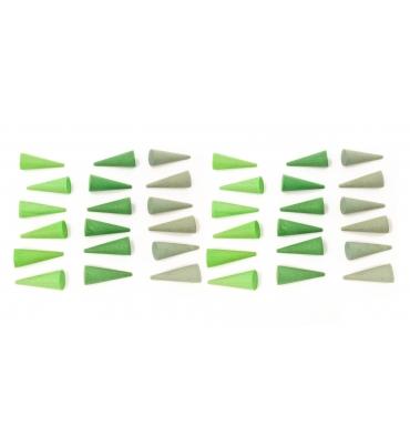 Mandala Petits cônes verts Grapat - Jolie Cerise